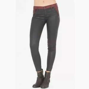 AG Adriano Goldschmied Willow Zip Coated Leggings